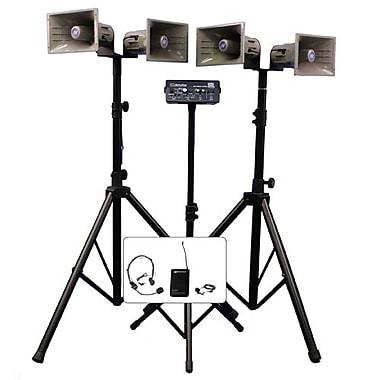 Amplivox Deluxe Wireless Quad Horn Half-Mile Hailer Kit