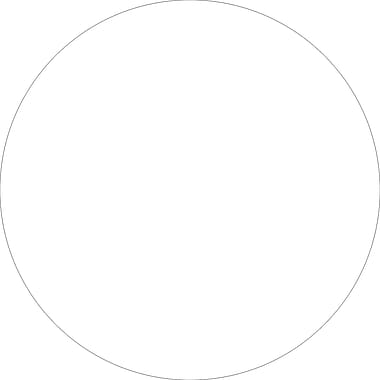Tape Logic™ 3in. Circle Inventory Label, White, 500/Roll