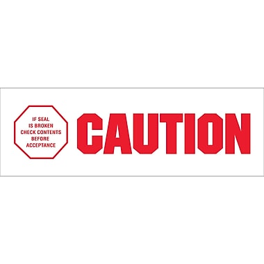 Tape Logic™ 2in. x 110 yds. Pre Printed in.Caution - If Seal Is Brokenin. Carton Sealing Tape, 18/Case