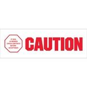 "Tape Logic® Pre-Printed Carton Sealing Tape, ""Caution - If Seal Is Broke"", 2"" x 110 yds., Red/White, 6/Case"
