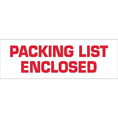Tape Logic™ 2in. x 55 yds. Pre Printed in.Packing List Enclosedin. Carton Sealing Tape, 18/Pack