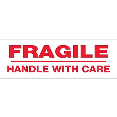 Tape Logic™ 2in. x 55 yds. Pre Printed in.Fragile Handle With Carein. Carton Sealing Tape, 6/Pack
