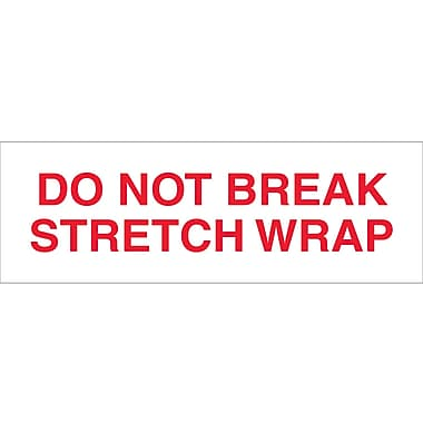 Tape Logic™ 2in. x 110 yds. Pre Printed in.Do Not Break Stretch Wrapin. Carton Sealing Tape, 18/Pack