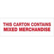 Tape Logic™ 2 x 55 yds. Pre Printed Mixed Merchandise Carton Sealing Tape, 18/Case