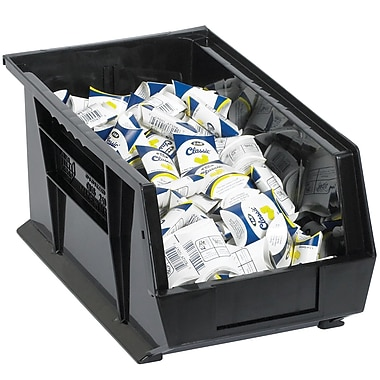 BOX 9 1/4in. x 6in. x 5in. Plastic Stack and Hang Bin Box, Black
