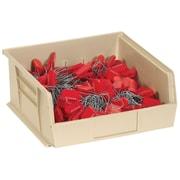 "BOX 9 1/4"" x 6"" x 5"" Plastic Stack and Hang Bin Box, Ivory"