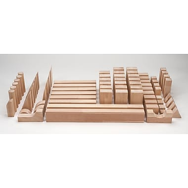 Whitney Brothers Hardwood Beginner Block Set, 75 Blocks