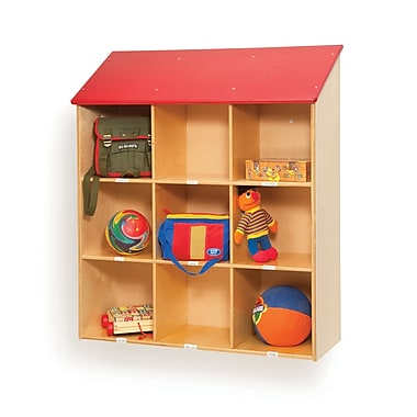 Whitney Brothers Red Roof Wall Storage Cabinet, 41in.(H)