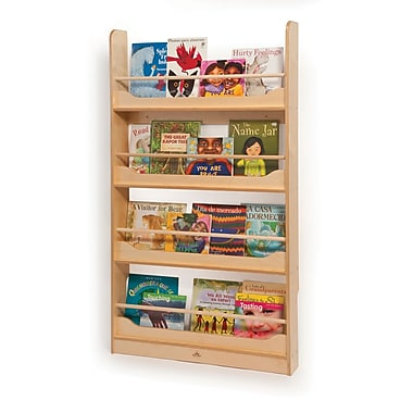 Whitney Brothers Wall Mount Book Shelf, Natural