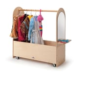 Whitney Brothers Portable Dress Up Rack, Natural