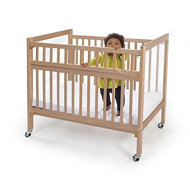 Whitney Brothers Clear View Folding Rail Crib, Natural