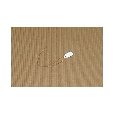 White Jewelry Tag With Burgundy String, 7/8in. x 1/2in.
