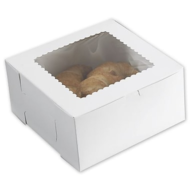 10in. x 10in. x 5in. Windowed Bakery Boxes, White