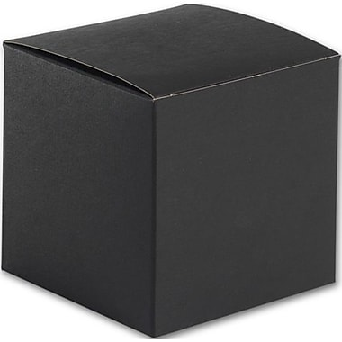 4in. x 4in. x 4in. Embossed Gift Boxes, Black