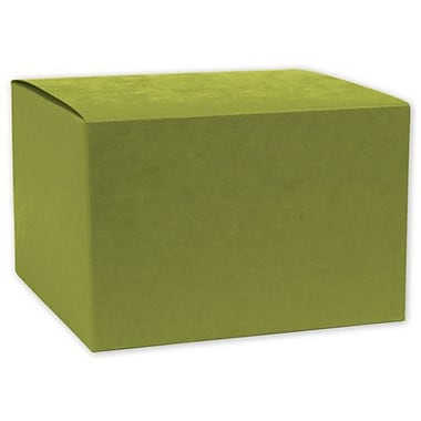 4in. x 4in. x 4in. Embossed Gift Boxes, Kiwi Green