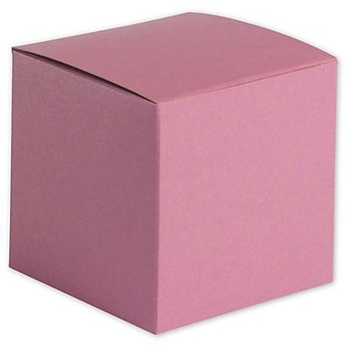 4in. x 4in. x 4in. Embossed Gift Boxes, Pink