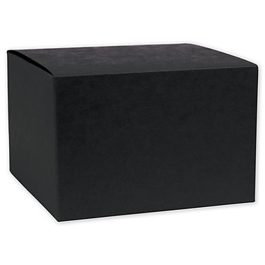 Paper 6in.H x 6in.W Gift Boxes, Black, 100/Pack