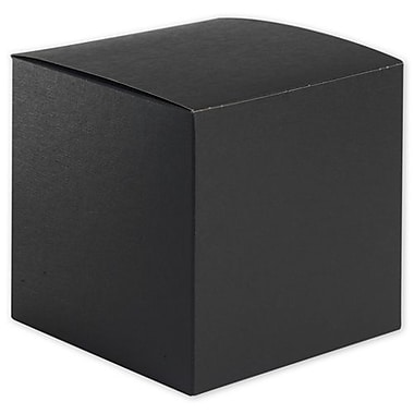 6in. x 6in. x 6in. Embossed Gift Boxes, Black