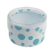 "Dots Favor Polyethylene 2""Dia. x 1""D Gift Boxes, Blue, 6/Pack"