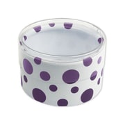 "Dots Favor Polyethylene 2""Dia. x 1""D Gift Boxes, Purple, 6/Pack"