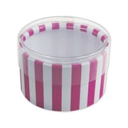"Stripes Favor Polyethylene 2""Dia. x 1""D Gift Boxes, Pink, 6/Pack"