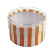 "Stripes Favor Polyethylene 2""Dia. x 1""D Gift Boxes, Orange, 6/Pack"