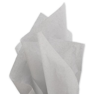 20in. x 30in. Solid Tissue Paper, Light Gray