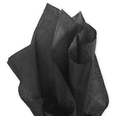 20in. x 30in. Solid Tissue Paper, Black