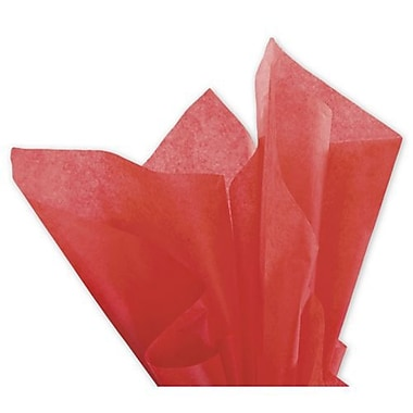 20in. x 30in. Solid Tissue Paper, Mandarin Red
