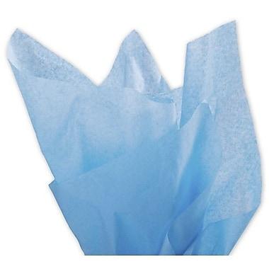 Papier de soie uni, 20 x 30 po, bleu Pacifique, 480/paquet