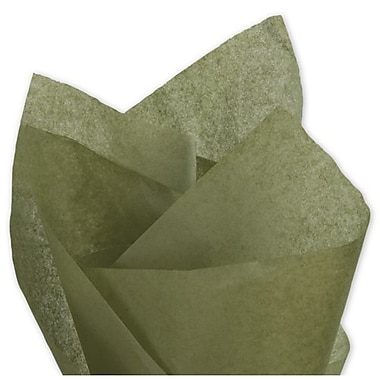 20in. x 30in. Solid Tissue Paper, Olive Green