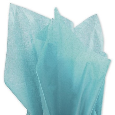 20in. x 30in. Solid Tissue Paper, Bright Turquoise