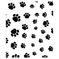 30in. x 100' Paws Polypropylene Film Roll, Black on White
