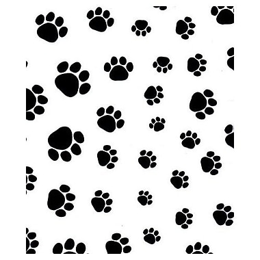 20in. x 30in. Puppy Paws Tissue Paper, Black on White