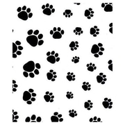 "20"" x 30"" Puppy Paws Tissue Paper, Black on White"