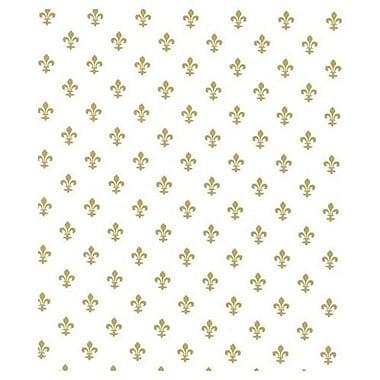 20in. x 30in. Fleur-De-Lis Tissue Paper, White