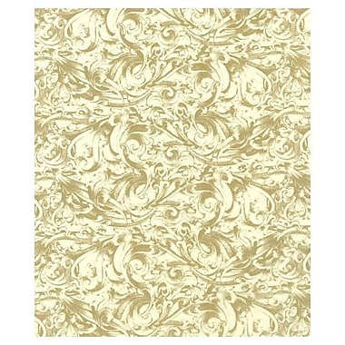 20in. x 30in. Gold Scroll Tissue Paper, Kraft