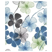 """20"""" x 30"""" Floral Lines Tissue Paper, White"""