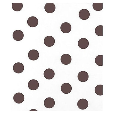 20in. x 30in. Dots Tissue Paper, Brown on White