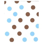 "20"" x 30"" Dots Tissue Paper, Brown and Blue on White"