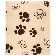 "20"" x 30"" Paws Tissue Paper, Black on Kraft"