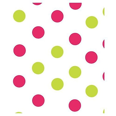 20in. x 30in. Dots Tissue Paper, Pink and Green on White