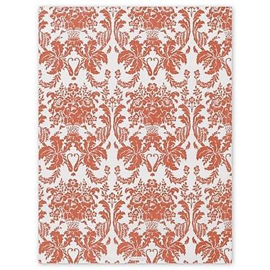 Papier de soie à motif damassé tangerine tango, 20 po x 30 po, blanc, 200/paquet