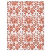 "20"" x 30"" Tangerine Tango Damask Tissue Paper, White"