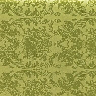 Papier de soie avec motifs de damas, 20 x 30 po, pistache, 200/paquet