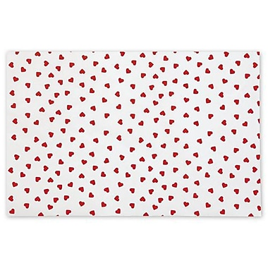 20in. x 30in. Contemporary Hearts Tissue Paper, White