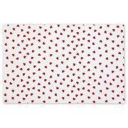 20 x 30 Contemporary Hearts Tissue Paper, White
