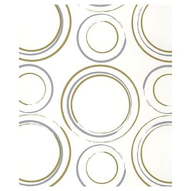 20in. x 30in. Metallic Circles Tissue Paper, White