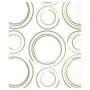 20 x 30 Metallic Circles Tissue Paper, White