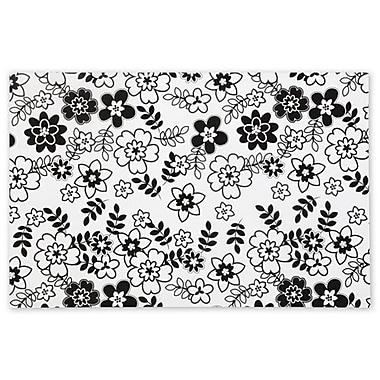 Papier de soie Retro Floral, 20 x 30 po, blanc, 240/paquet